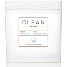 Clean Space Warm Cotton Scented Candle 227 ml