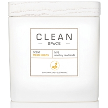Clean Space Fresh Linens Scented Candle 227 ml