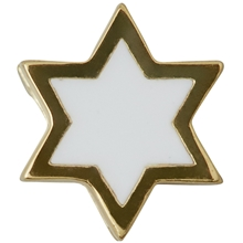 Design Letters Enamel Star Charm Gold White