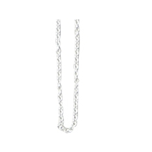 Design Letters Necklace Chain 45 cm Silver